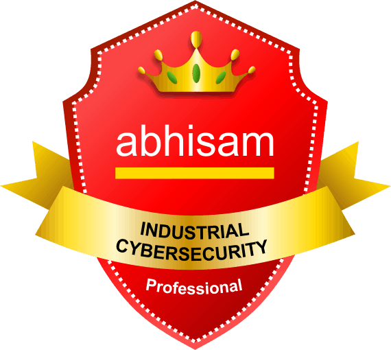 Abhisam Industrial Cyber Security Professional badge